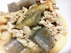 豚肉とごぼうの味噌煮