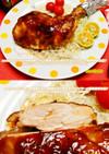 フライパン一つで骨付モモ肉ローストチキン