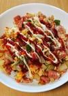簡単ランチ!スパムと彩り野菜丼