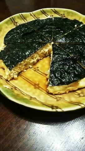 鶏ひき肉&豆腐の海苔つくね。