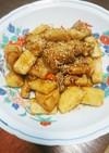 鶏肉と長芋とレンコンの煮物風