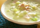 キャベツとハムのチーズスープ