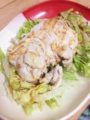 【サラダチキン】で棒棒鶏風サラダの写真