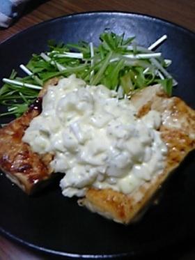 豆腐のステーキ☆チキン南蛮風
