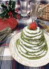 抹茶のクリスマスツリーパンケーキ