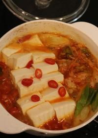 ★キムチ豆腐チゲ・1位(김치두부찌개)