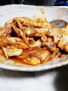 キノコと鶏ムネ肉のお手軽インドカレー風