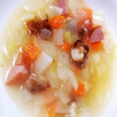 残った唐揚げで具沢山生姜スープ♡