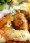 鶏胸肉のピカタ 温野菜添え