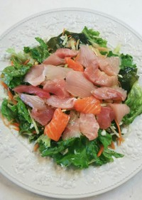 海鮮サラダ!中華ドレッシング