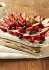 生チョコといちごのスコップケーキ