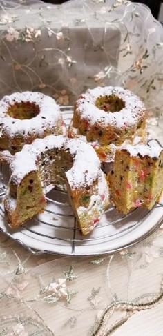 クリスマス風クグロフケーキ