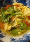 サニーレタスとミニトマトと卵のスープ