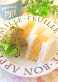 レンジで簡単☆厚焼き卵サンド
