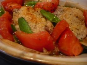 トースターで簡単☆鶏肉と野菜のグリル♪