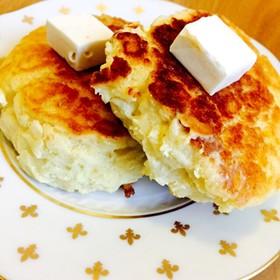 HMとヨーグルトでパンケーキ