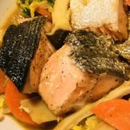 鮭のちゃんちゃん焼き風●バター味噌煮込み