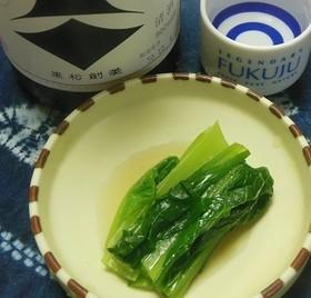 野沢菜みたいな小松菜のおひたし