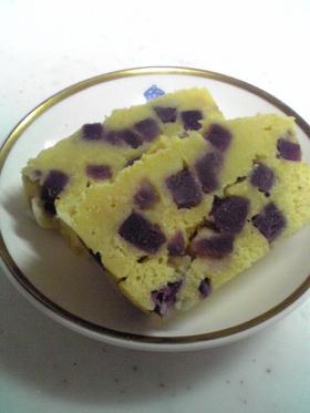 紫芋のおからケーキ