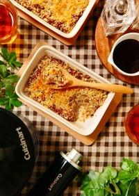 グラタン皿でオーブン焼きスコップコロッケ