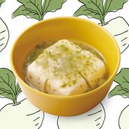 ブレッツァでかぶとかぶの葉の豆腐あんかけ