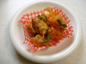 鶏肉のカレーケチャップ炒め