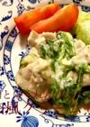 鶏とほうれん草の和風クリーム煮
