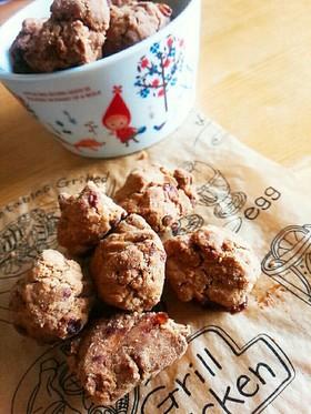 罪悪感減る喜び♬米粉黒糖きな粉クッキー