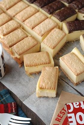 ビスコで作る♡チーズケーキサンド
