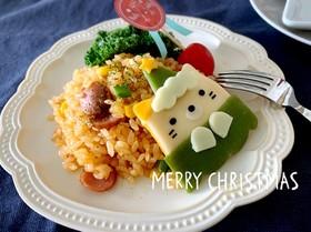 すみっコぐらしねこデコキャラ弁クリスマス