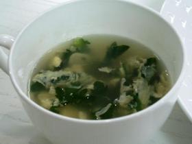 10分でできちゃう春菊と卵の中華風スープ