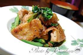 超簡単☆鶏肉とインゲンの醤油おかか炒め