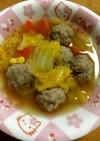 白菜と肉団子の煮込み