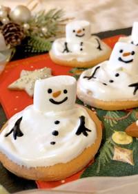 クリスマス♡とろけるスノーマンクッキー