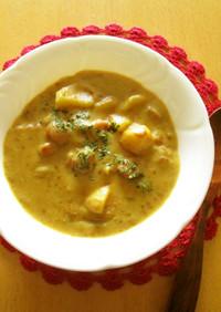 ポテトとウインナーのカレースープ