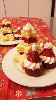 簡単 ☆ クリスマス ツリー ケーキ ☆の写真