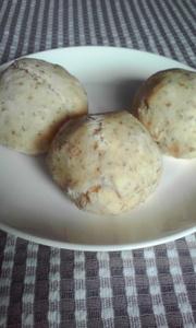 簡単ヘルシーな豆腐レーズンパンの写真