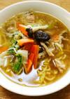 65、鍋の残り野菜で♡野菜炒めラーメン