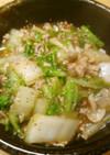 簡単昼食 白菜しめじ豚肉の牡蠣油炒め丼