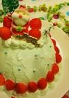 レンジで簡単❤X'masドームケーキ