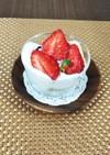 苺とオレンジママレードのズボラケーキ