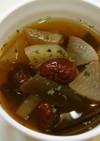 漢方医お勧め薬膳!大根と昆布のスープ