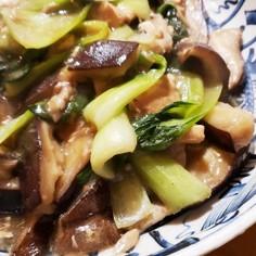 小松菜とシイタケの旨煮