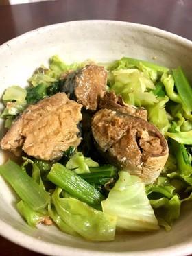 レンジ★さば味噌煮缶で簡単★野菜煮