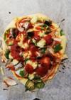 オイルサーディーンのピザ