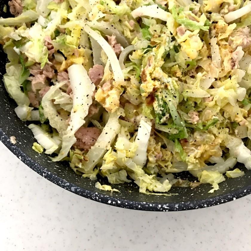 低糖質!白菜のホットサラダ。