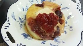 超簡単!クリームチーズと苺のパンケーキ♡