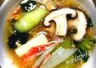 とろ~り温かチンゲン菜と豆腐生姜スープ