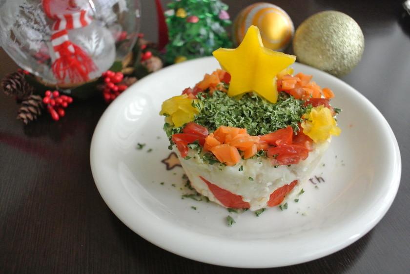 犬ちゃんヘルシー野菜のクリスマスケーキ♪