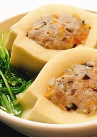 だし染み絶品!高野豆腐の肉詰め煮